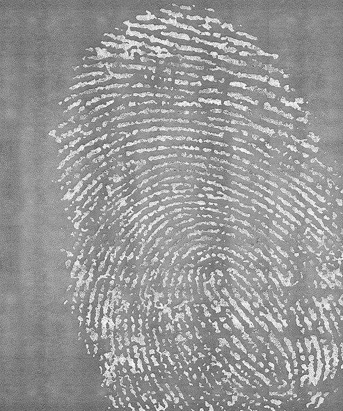 Artep tappeto design fingerprint gray