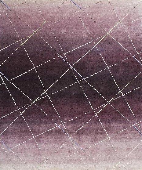 Artep design graphic carpet purple