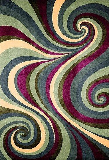 Artep tappeto design optic Spyral 2