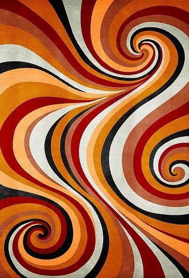 Artep tappeto design optic Spyral 3